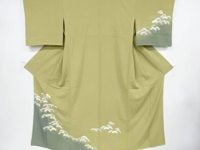 笠松模様刺繍単衣訪問着【リサイクル】【中古】【着】 宗sou