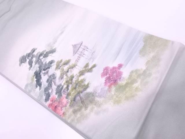 湖畔模様袋帯【リサイクル】【中古】【着】 宗sou