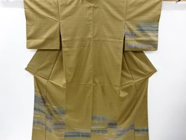 創作手織り真綿紬横段模様訪問着【リサイクル】【中古】【着】 宗sou