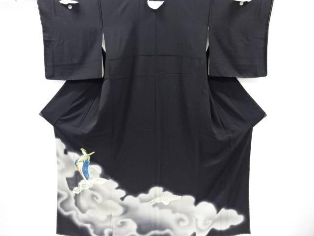 未使用品 仕立て上がり 金彩龍女模様刺繍留袖(比翼付き)【着】 宗sou