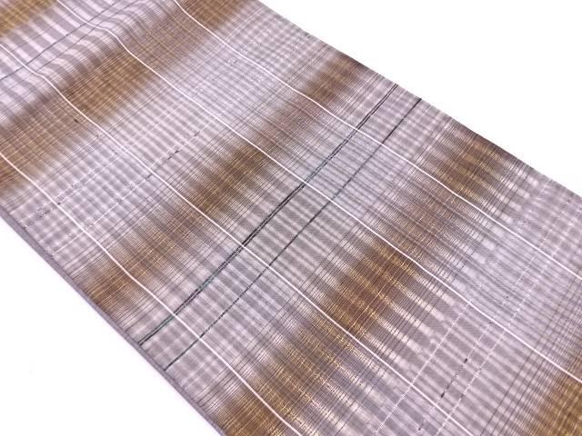 格子模様織出し袋帯【リサイクル】【中古】【着】 宗sou