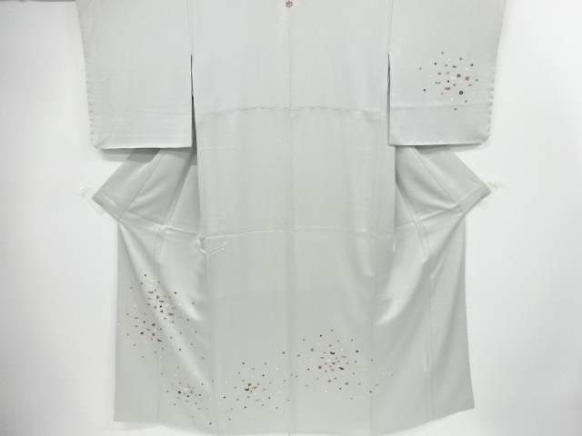 手刺繍梅に菖蒲銀杏水玉模様一つ紋訪問着【リサイクル】【中古】【着】 宗sou