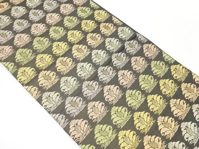 本金花模様織り出し袋帯【リサイクル】【中古】【着】 宗sou