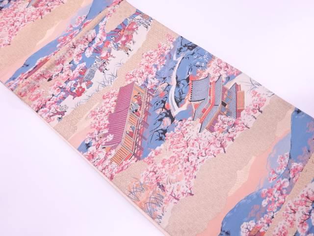 時代人物風景模様織出し袋帯【リサイクル】【中古】【着】 宗sou