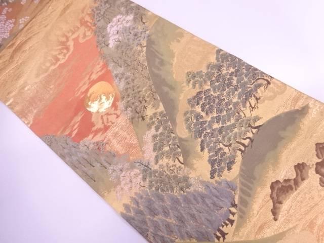 本金引箔月見山水文様織出し袋帯【リサイクル】【中古】【着】 宗sou