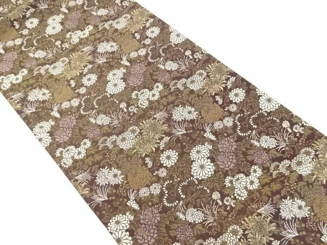 秋草模様織り出し袋帯【リサイクル】【中古】【着】 宗sou