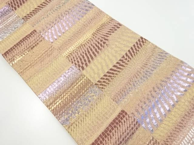本金変わり横段模様織り出し袋帯【リサイクル】【中古】【着】 宗sou