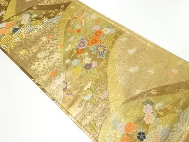 本金流水に花鳥模様織り出し袋帯【リサイクル】【中古】【着】 宗sou