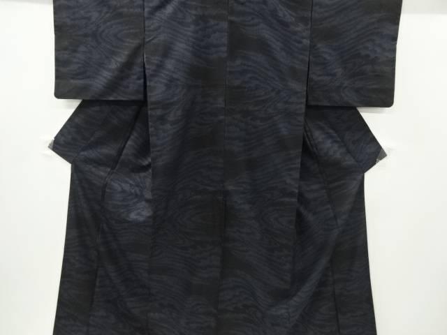 流水模様織り出し本場泥大島紬着物(7マルキ)【リサイクル】【中古】【着】 宗sou