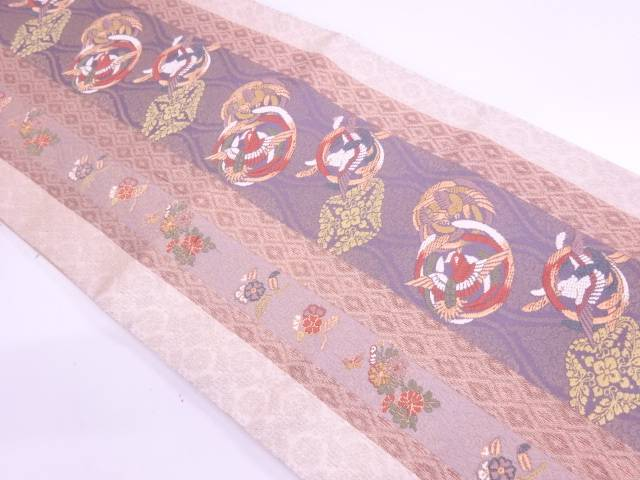 唐織花鳥模様織出し袋帯【リサイクル】【中古】【着】 宗sou