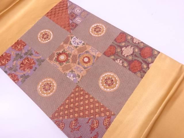 市松に名物裂模様刺繍袋帯【リサイクル】【中古】【着】 宗sou