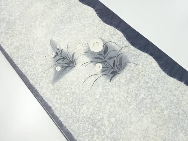 絞り草花模様刺繍袋帯【リサイクル】【中古】【着】 宗sou