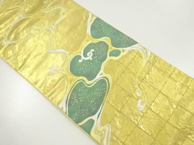 本金箔流水模様織り出し袋帯【リサイクル】【中古】【着】 宗sou