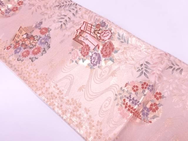 未使用品 裂取庭園文織出し袋帯【リサイクル】【着】 宗sou