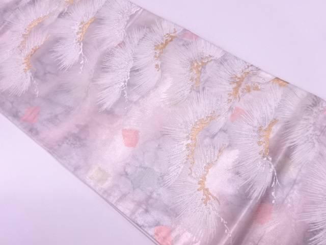 松模様織出し袋帯【リサイクル】【中古】【着】 宗sou
