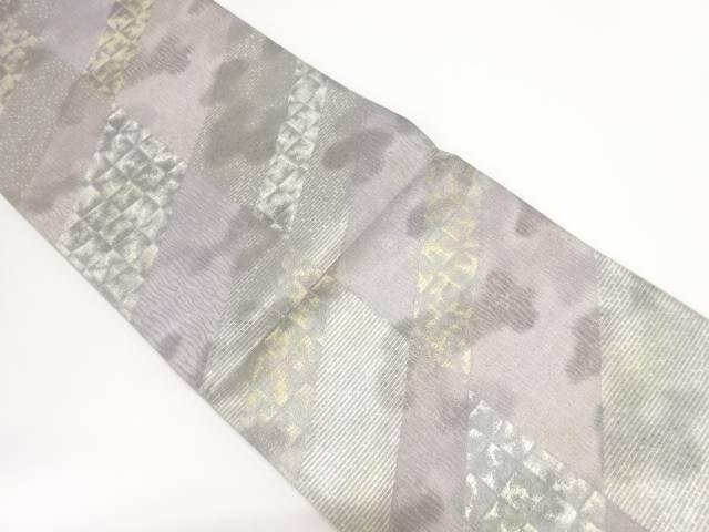 しらえ織物製 金銀糸献上斜取文様織り出し袋帯【リサイクル】【中古】【着】 宗sou