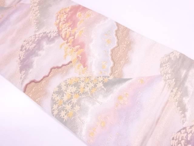 山並みに松模様織出し袋帯【リサイクル】【中古】【着】 宗sou