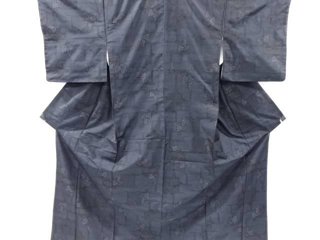 未使用品 仕立て上がり 葡萄模様織出本場泥大島紬着物アンサンブル【着】 宗sou