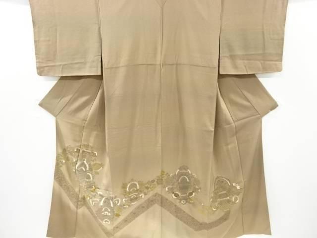 蘇州刺繍唐花模様ぼかし一ツ紋色留袖【リサイクル】【中古】【着】 宗sou