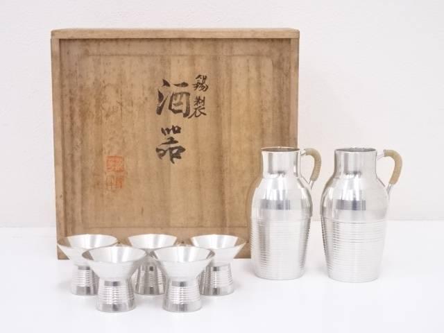 錫半造 錫製酒器セット(516g)【中古】【道】 宗sou