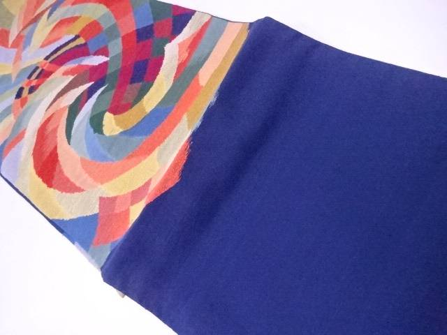 未使用品  袋帯 手織 すくい織 波文【リサイクル】【着】 宗sou