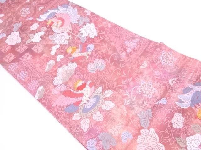 切嵌風花鳥に兎模様織出し袋帯【リサイクル】【中古】【着】 宗sou
