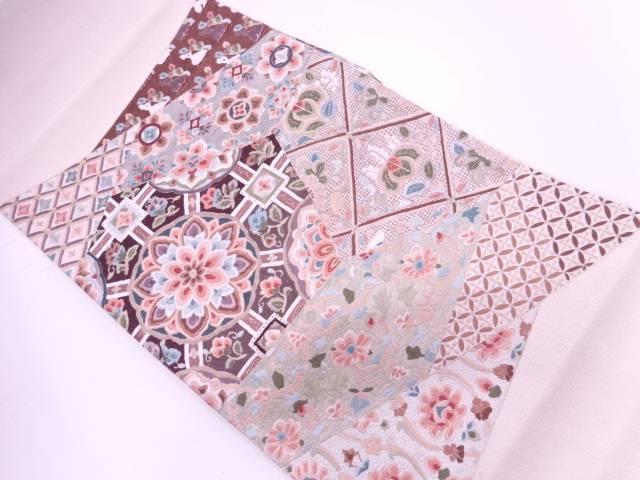 蘇州刺繍切嵌風華紋に花兎模様袋帯【リサイクル】【中古】【着】 宗sou