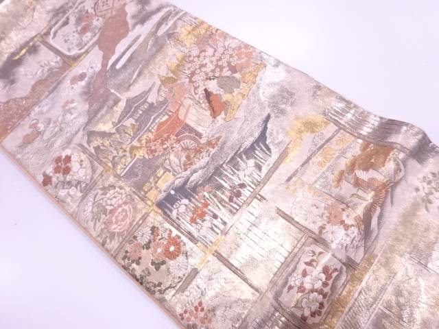 時代人物・風景模様織出し袋帯【リサイクル】【中古】【着】 宗sou