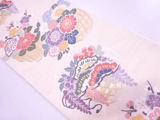 唐織花籠文織出し袋帯【リサイクル】【中古】【着】 宗sou