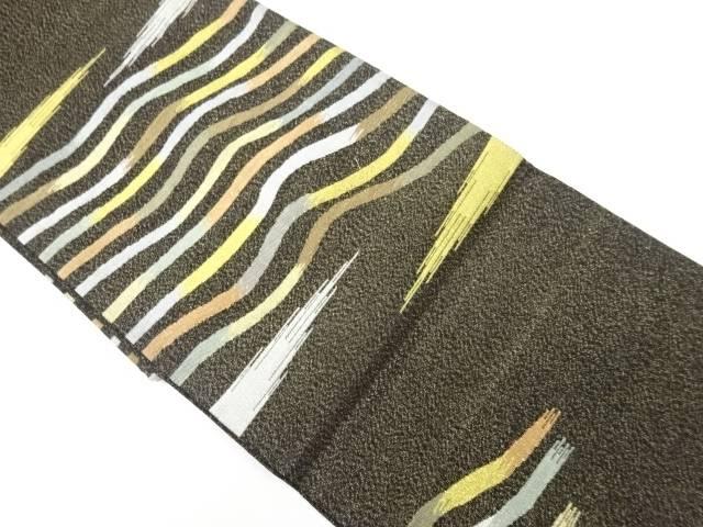 金糸変わり霞模様織り出し袋帯【リサイクル】【中古】【着】 宗sou