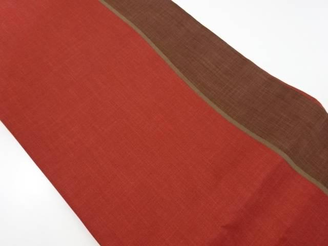 未使用品 木屋太製 よろけ縞模様織り出し袋帯(未仕立て)【リサイクル】【着】 宗sou