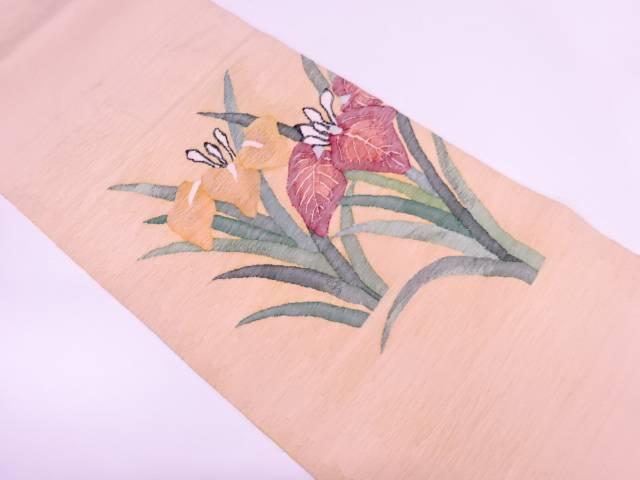 明綴れ菖蒲模様織出し袋帯【リサイクル】【中古】【着】 宗sou