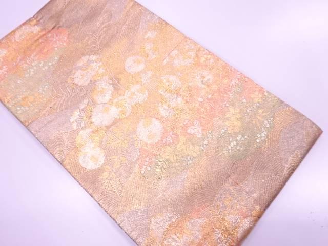 未使用品 万寿菊模様織出し袋帯【リサイクル】【着】 宗sou