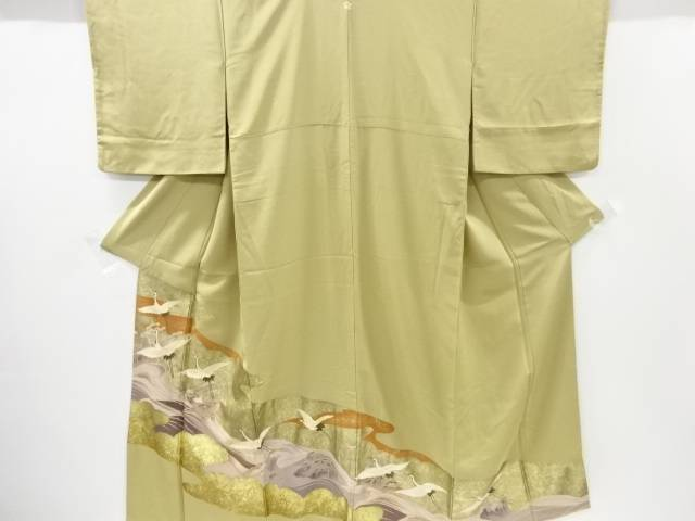 金彩波に群鶴模様一つ紋色留袖【リサイクル】【中古】【着】 宗sou