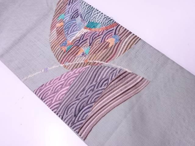 リボン織抽象模様袋帯【リサイクル】【中古】【着】 宗sou