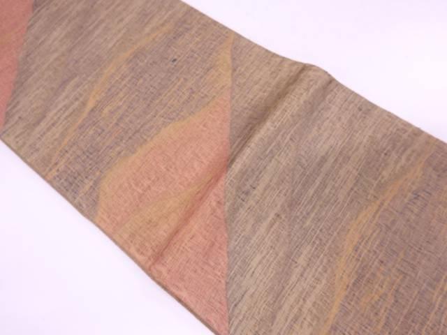 未使用品 すくい織山並み模様織出し全通袋帯【リサイクル】【着】 宗sou
