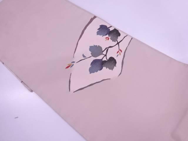 明綴れ地紙に枝花模様織出し袋帯【リサイクル】【中古】【着】 宗sou