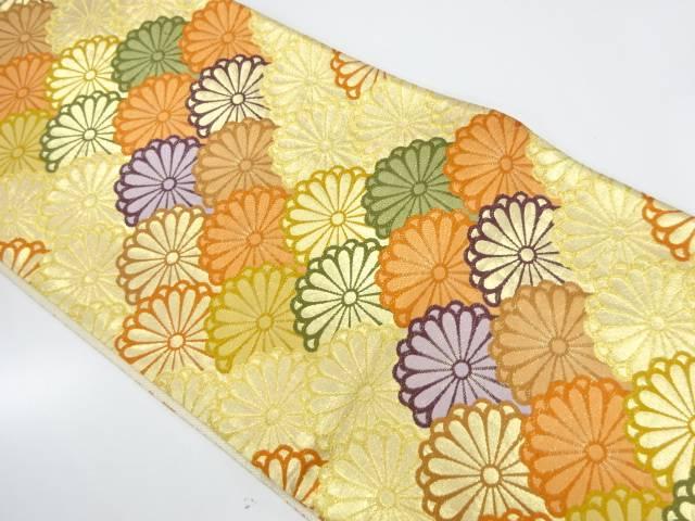 花づくし模様織出し袋帯【リサイクル】【中古】【着】 宗sou