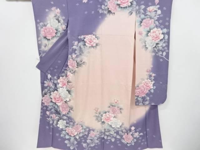 枝花模様振袖・袋帯セット【リサイクル】【中古】【着】 宗sou