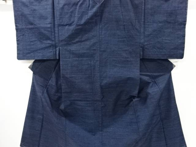 手織り真綿紬男物着物アンサンブル長襦袢・角帯セット【リサイクル】【中古】【着】 宗sou