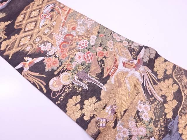 昔話模様織出し袋帯【リサイクル】【中古】【着】 宗sou