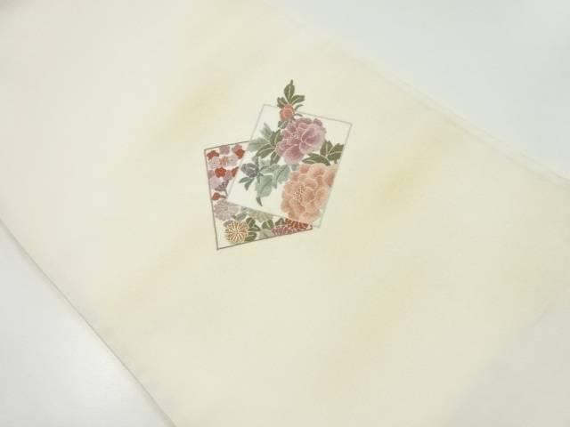 相良刺繍色紙に牡丹・菊模様袋帯【リサイクル】【中古】【着】 宗sou