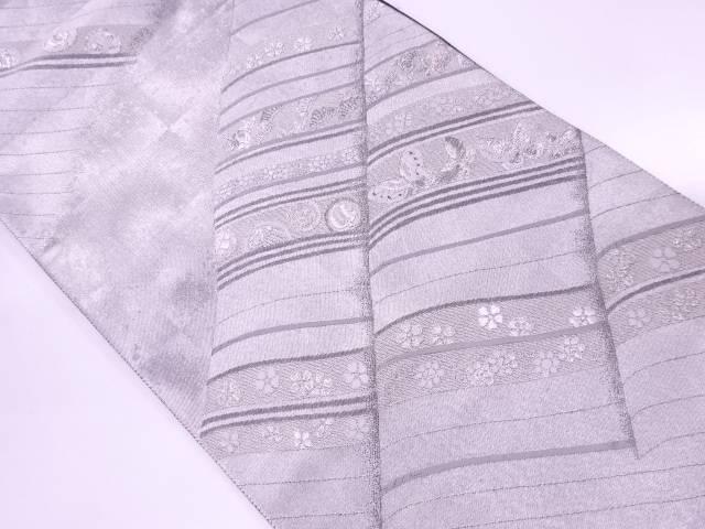 綾錦彫煌箔青海江戸小袖織出し袋帯【リサイクル】【中古】【着】 宗sou