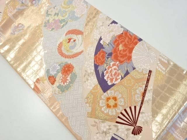 金銀糸寿鳥華扇文織出袋帯【リサイクル】【中古】【着】 宗sou