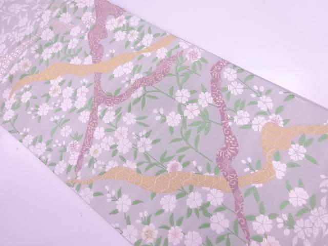 山口美術織物製 王朝の庭織出し袋帯【リサイクル】【中古】【着】 宗sou