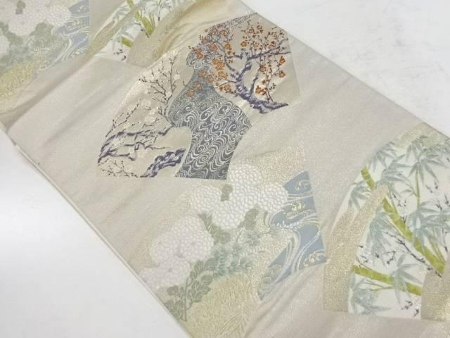 琳派扇面集織出し袋帯【リサイクル】【中古】【着】 宗sou