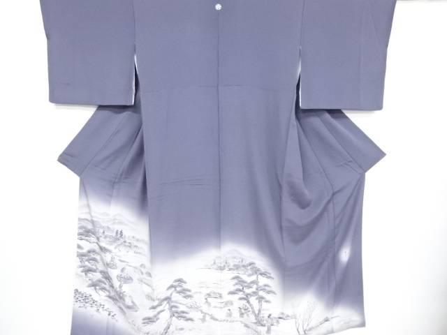 作家物 手描き田舎嫁入り風景模様一つ紋色留袖(比翼付き)【リサイクル】【中古】【着】 宗sou