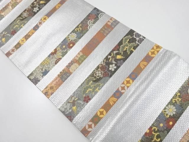 引箔有職段文織り出し袋帯【リサイクル】【中古】【着】 宗sou