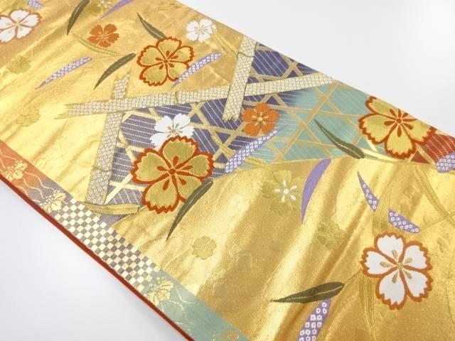 金糸撫子模様織出袋帯【リサイクル】【中古】【着】 宗sou