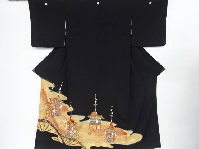 金彩山車模様刺繍留袖(比翼付き)【リサイクル】【中古】【着】 宗sou